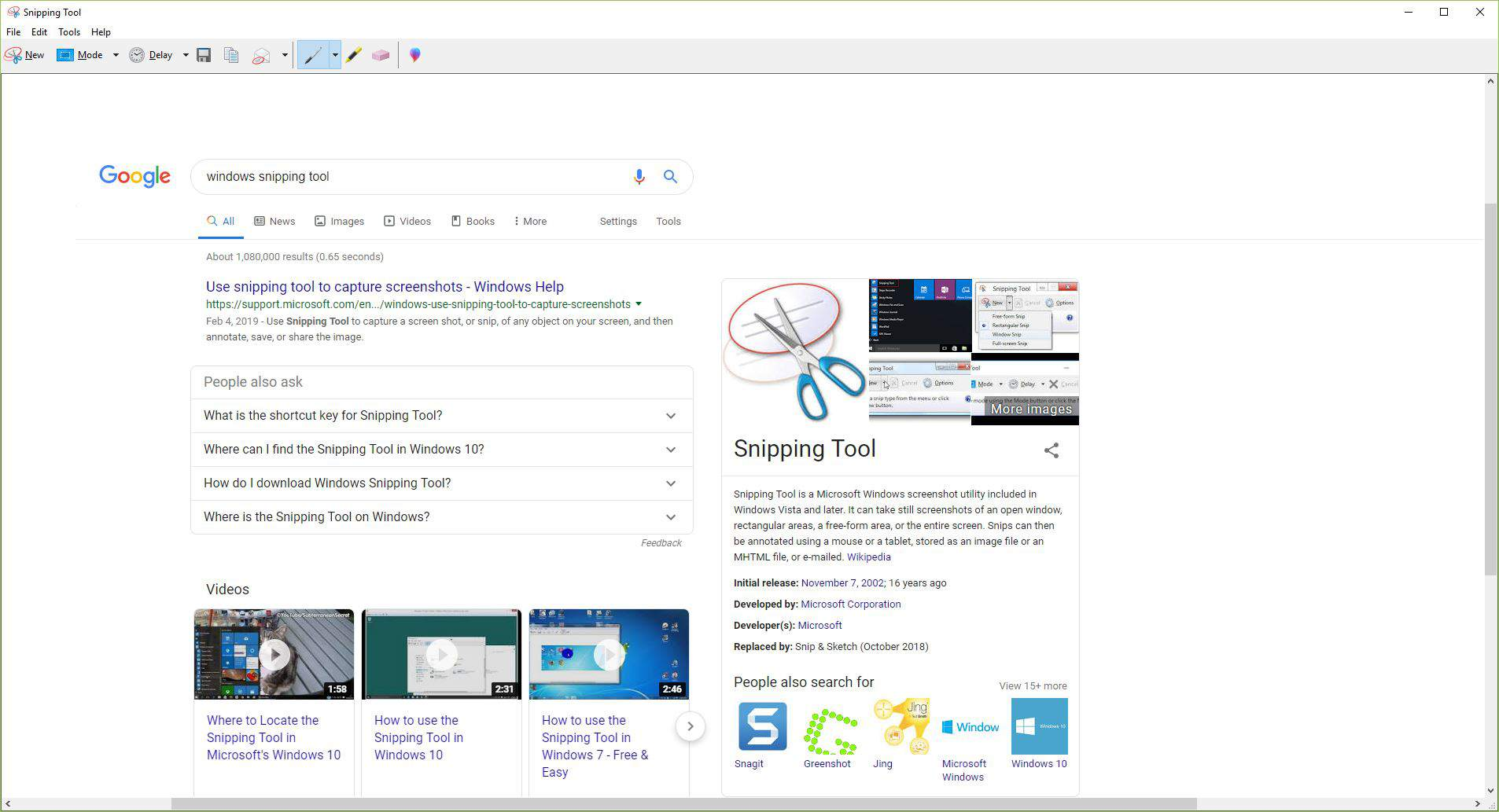 Capture a Screenshot in Windows With the Snipping Tool