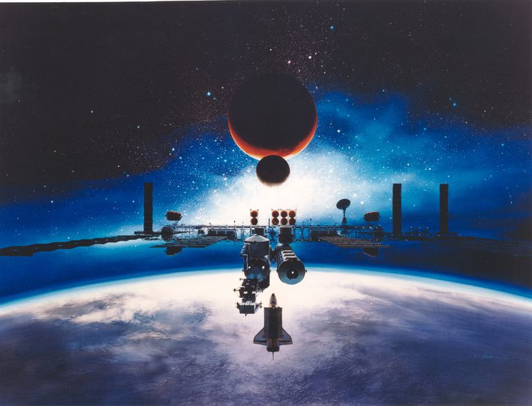 Artist's Conception of Space Station Freedom