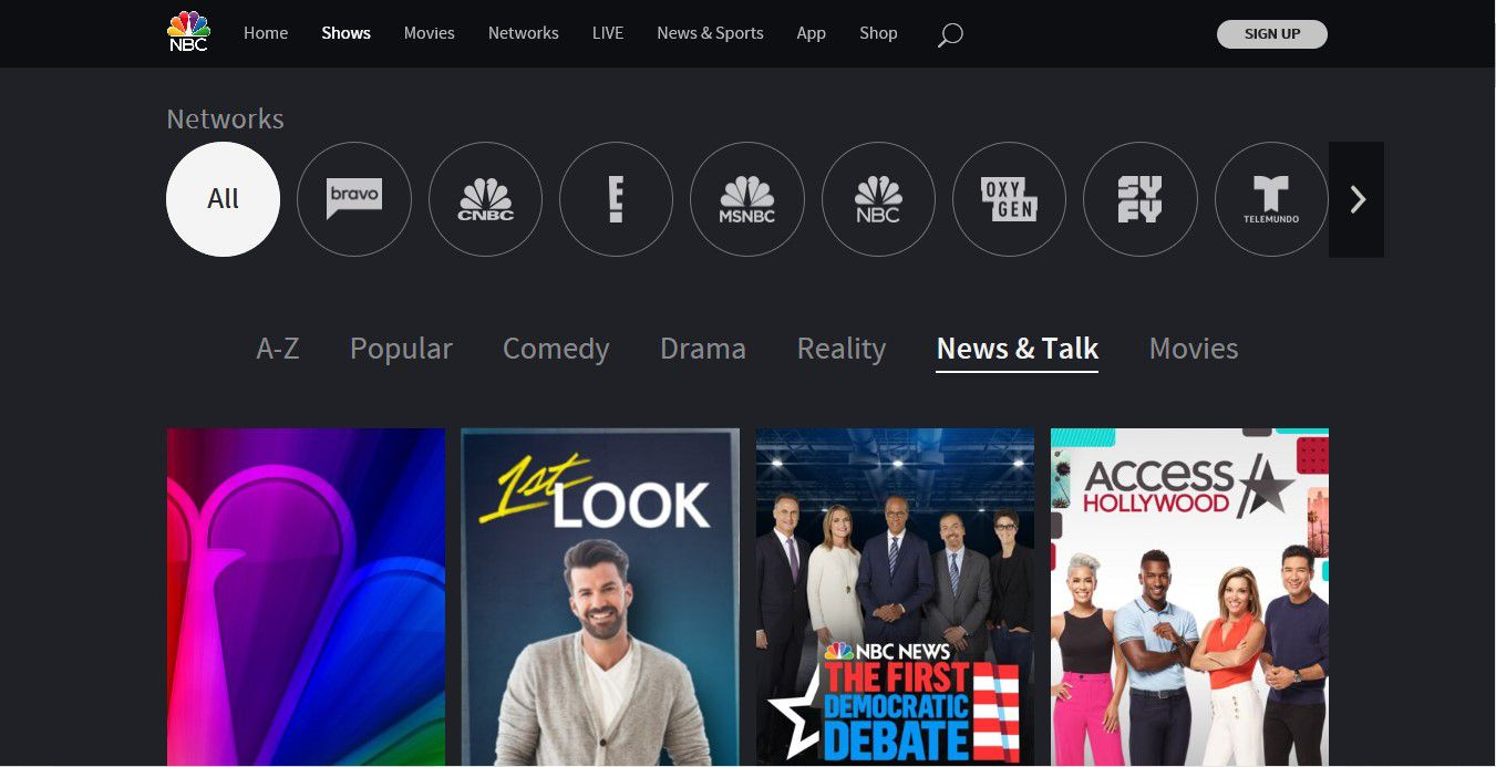 Watch Live Network TV at NBC