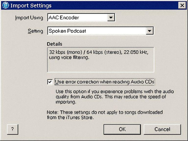 Best iTunes Rip Settings for CD Audiobooks