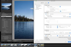 The Lightroom CC 2015 Exprort Dialg Box is shown in a screenshot.