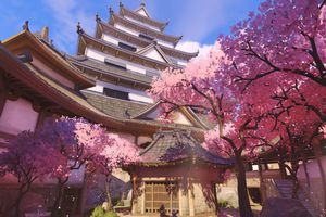 A screenshot of the Hanamura map in Overwatch.