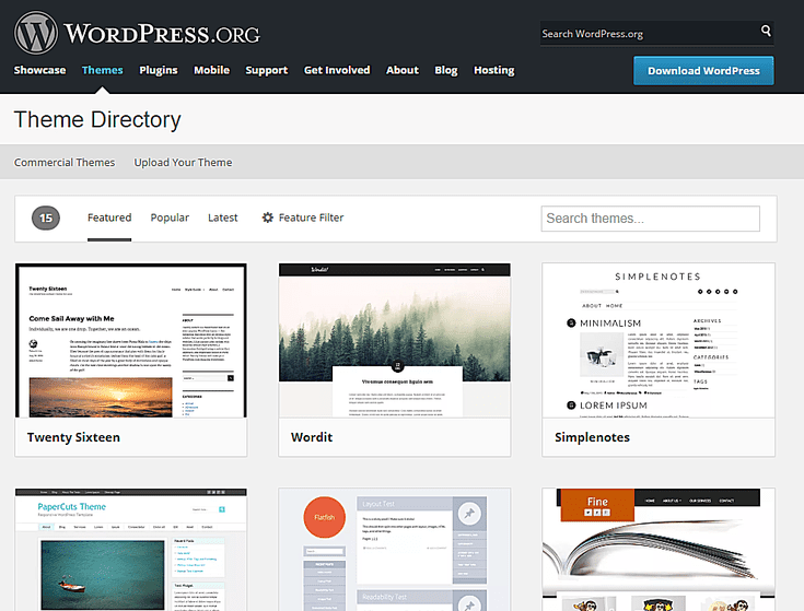 the 9 top places to download free wordpress themes