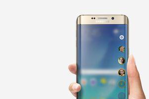 Samsung Galaxy S6 edge plus showing People Edge