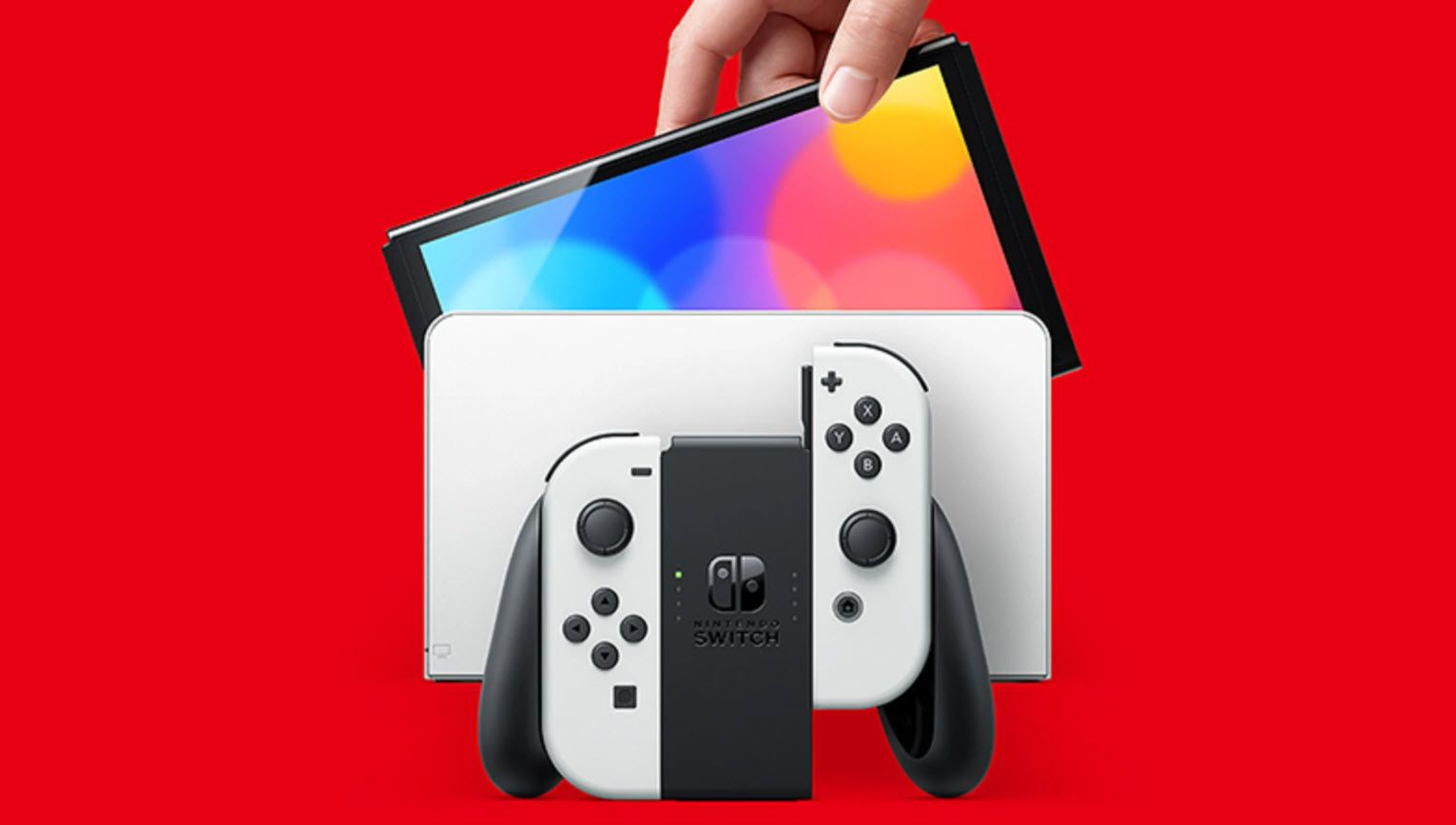 The new Nintendo Switch OLED Version.