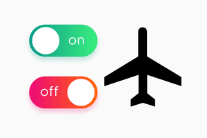 On off switch with airplane