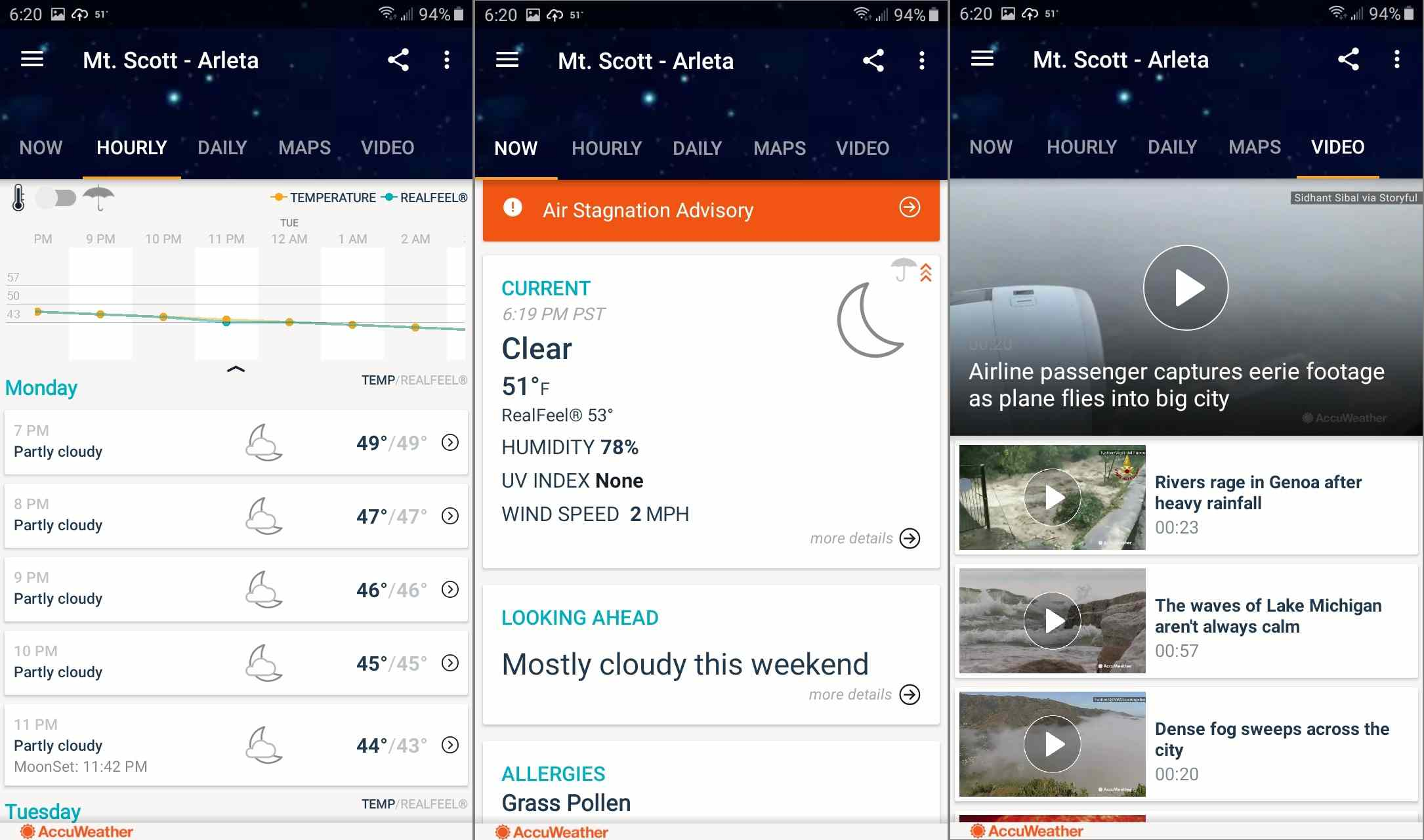 Get local weather reports from the AccuWeather app for Android.