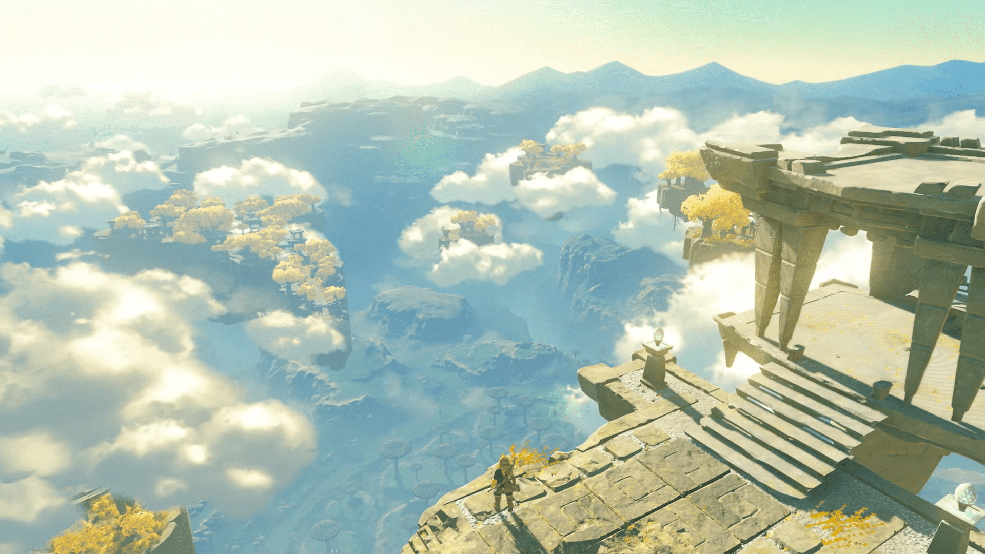 Link looks over the world in Breath of the Wild sequel