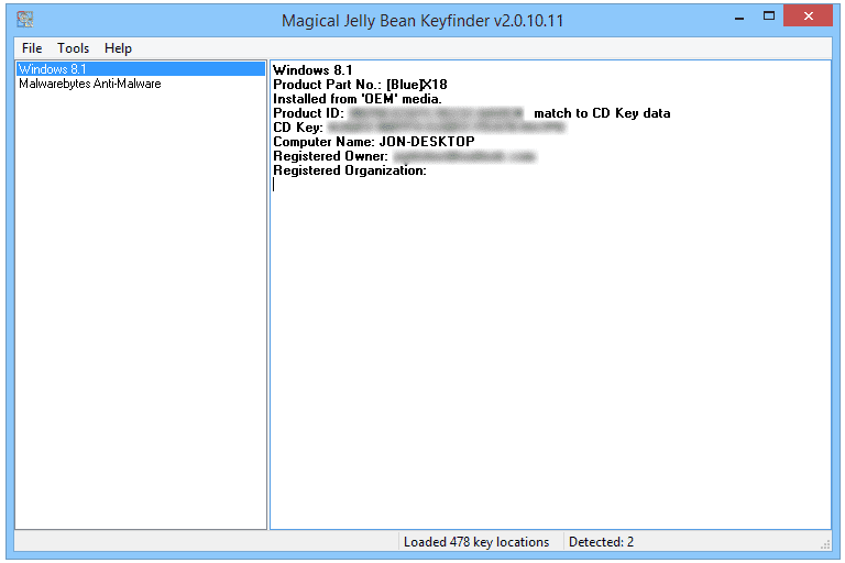 windows serial key finder