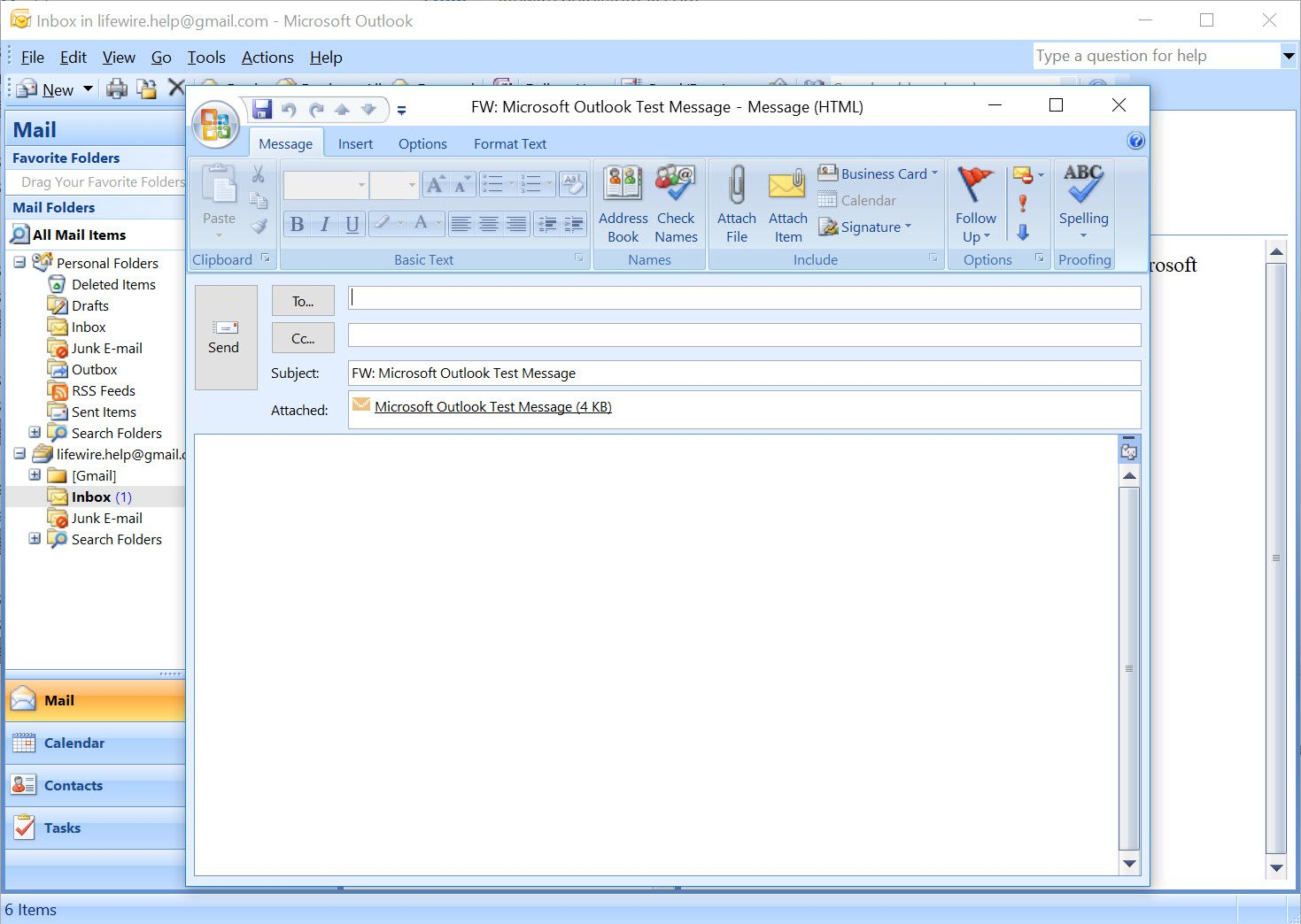 Outlook 2007 new forwarding email with another email as an attachment