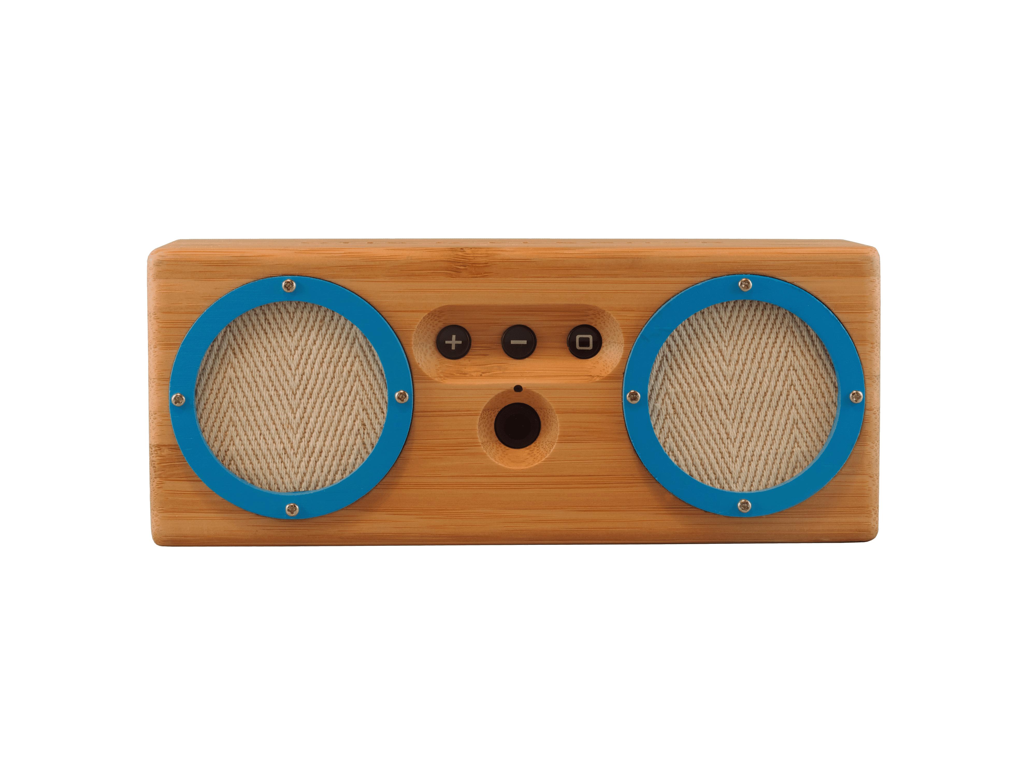 Otis & Eleanor s Bongo Bluetooth speaker in natural wood