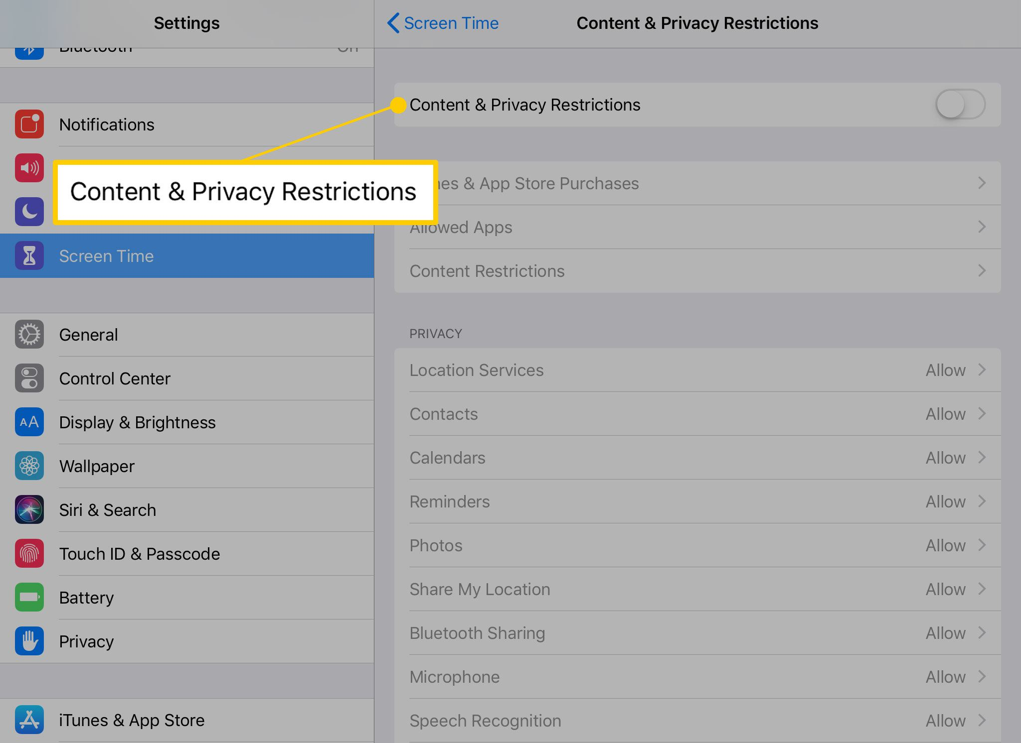 Parent control on iPad restrictions